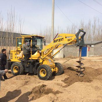 装载机939改装护栏打桩机 公路护栏钻孔机