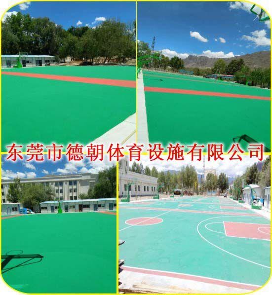 弹性丙烯酸球场材料销售 耐候耐磨环保地材弹性丙烯酸球场材料