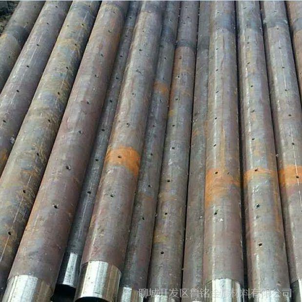 山东聊城供应隧道打桩灌输水泥108*6车丝管 无缝管加工生产 套丝转眼