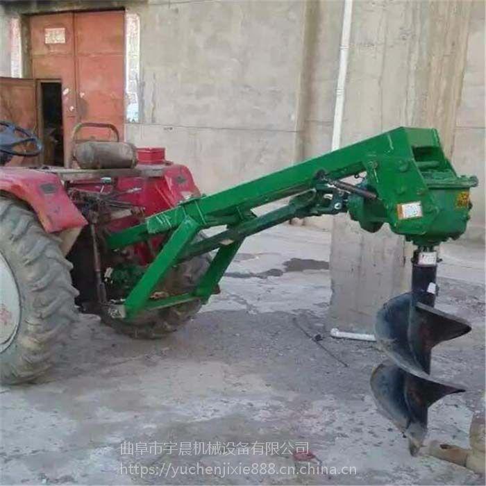 拖拉机种树四轮带动大直径钻眼机 植树埋桩地钻机打洞机 打窝挖坑机