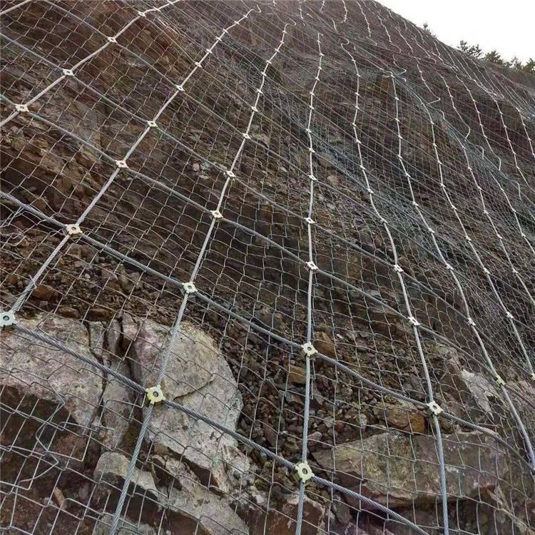 边坡防护网,钢丝绳网,山坡拦石网厂家生产安装