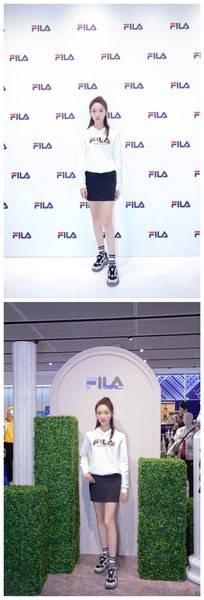 FILA运动代言人吴谨言身穿FILA POMPEI系列服饰