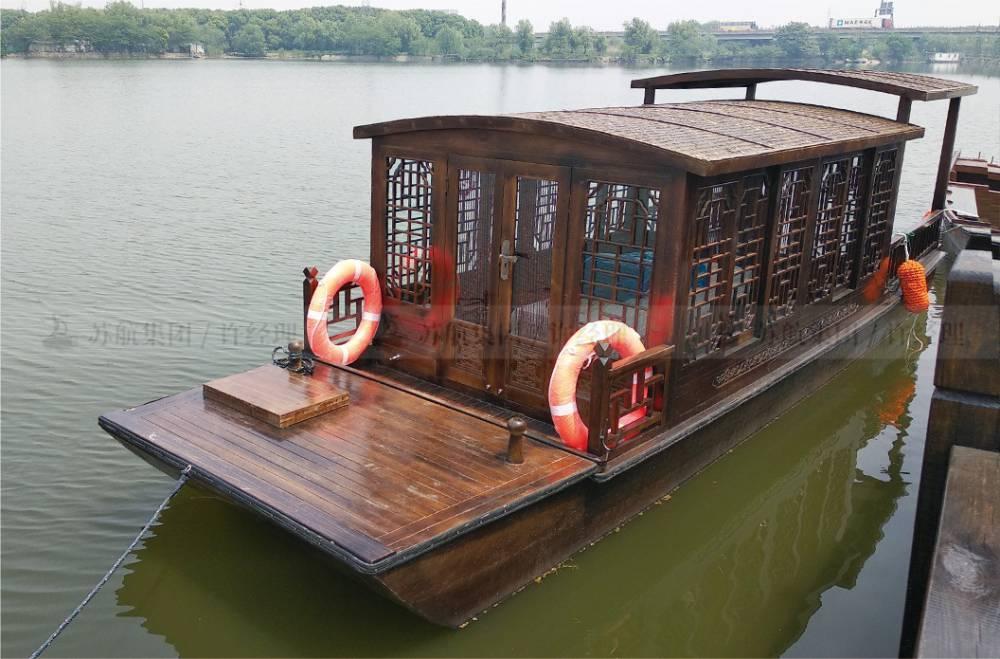 苏航牌观光船/仿古式观光单亭手划木船