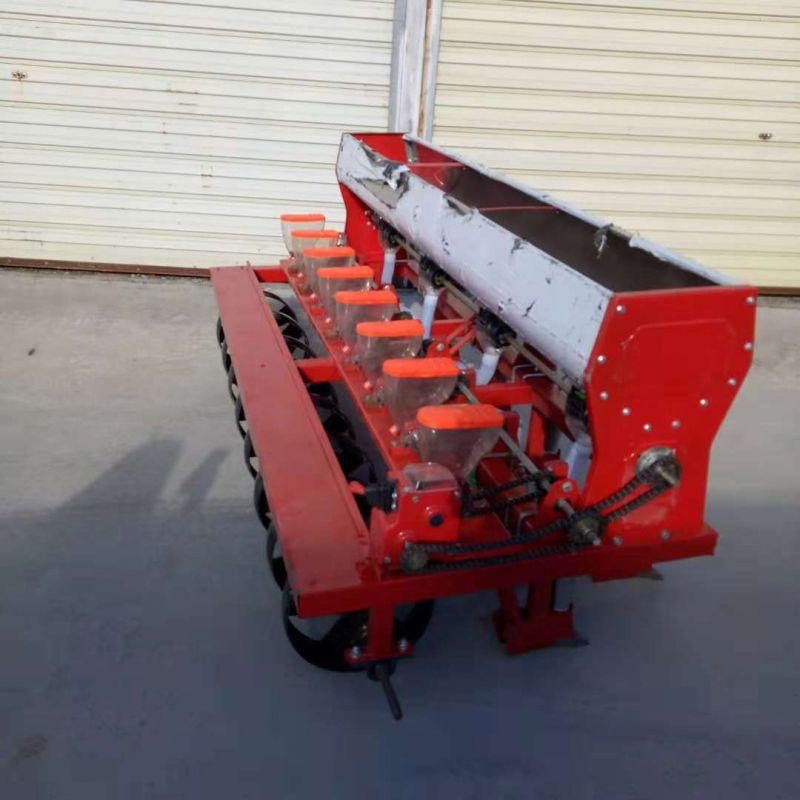 四轮车带谷子高粱播种机 免耕播种机