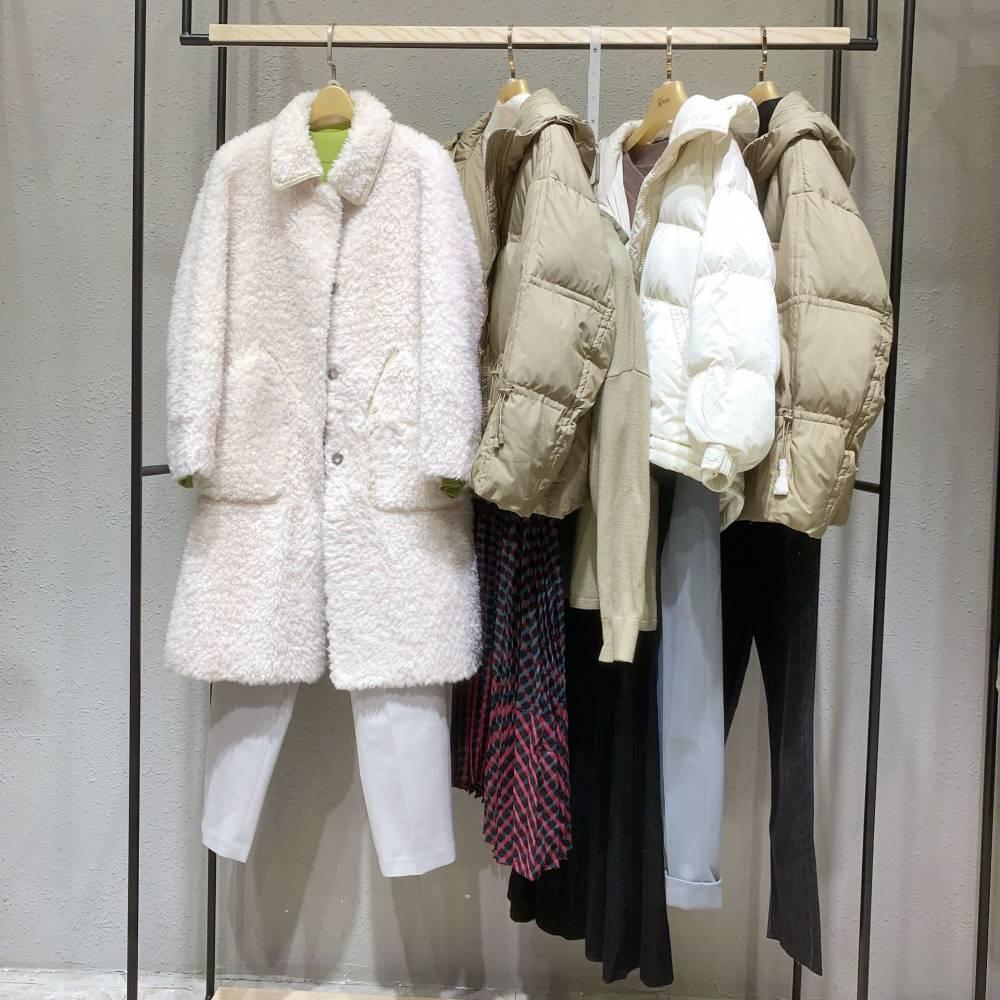 秋冬女装外套大衣 女中长款羽绒服 库存杂款1688供应拿货