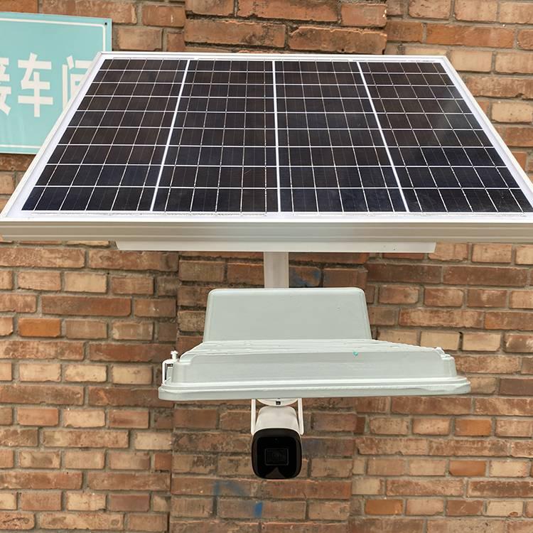 灯谷新款太阳能监控灯厂区安装效果