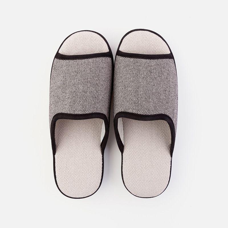 居家棉布拖鞋女秋室内防滑耐磨厚底情侣静音四季托鞋 EVA鞋底