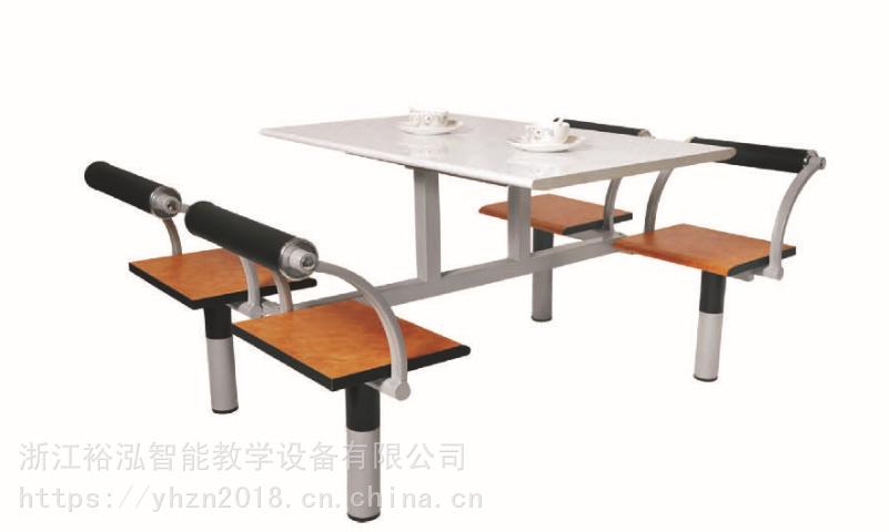 厂家直销四人位餐桌/学校食堂餐桌/学生餐桌/联体餐桌/餐桌椅/钢木餐桌/桌面多层板