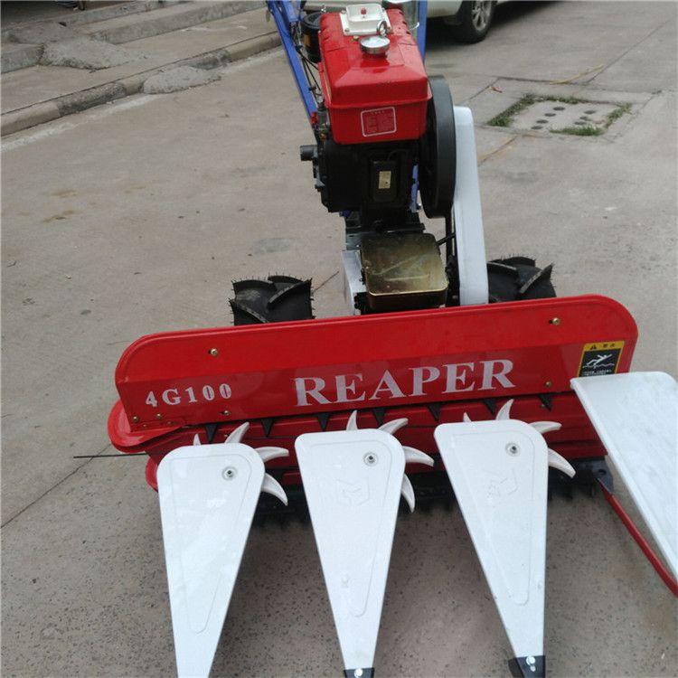 四轮宽幅芝麻秸秆薄荷收割机家用留兰香苜蓿收割机价格