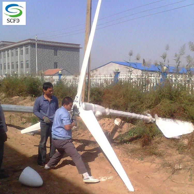 2kw小型风力发电机安装运行良好