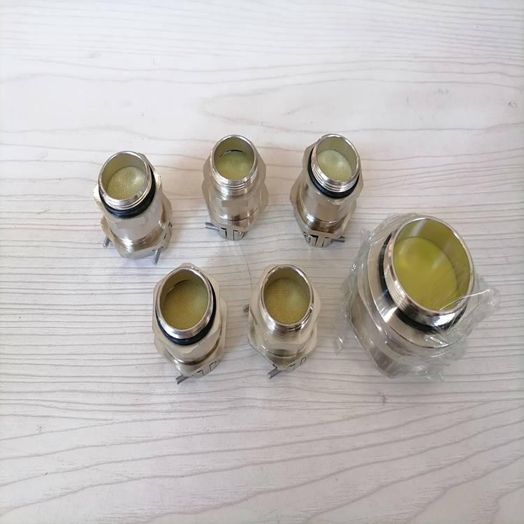 双重锁紧固定接头 三螺丝固定防水固定头不锈钢铜镀镍