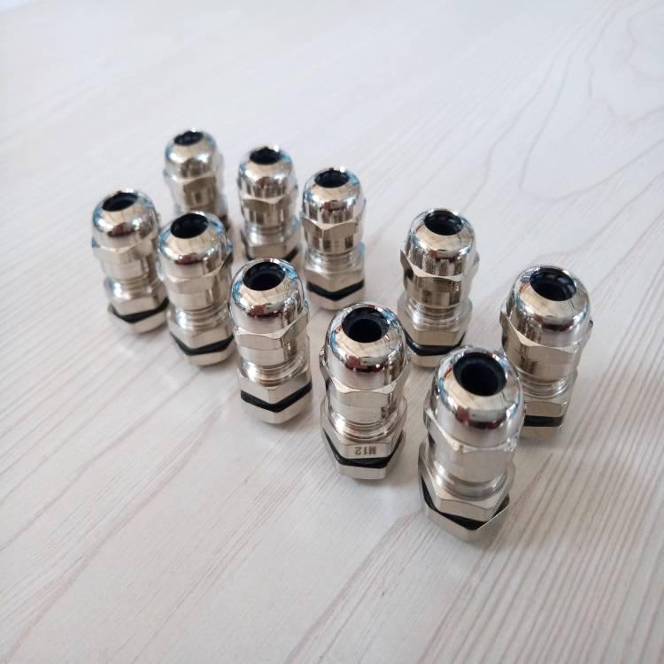 南京铜镀镍电缆格兰头厂家电缆夹紧密封接头M20铜镀镍电缆固定头5-9