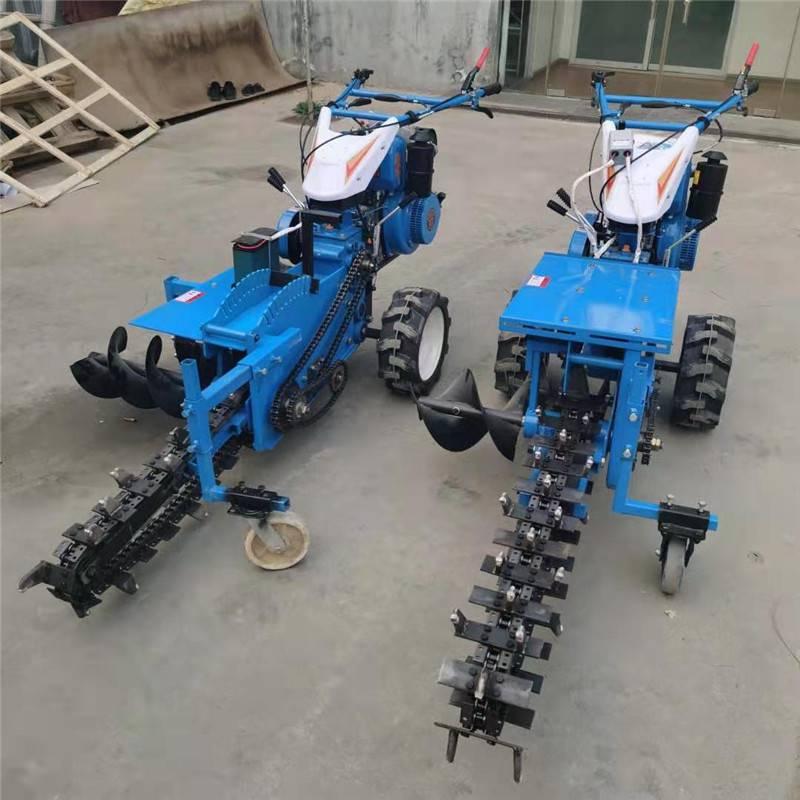 30宽链条开沟机 管道铺设挖槽机 液压升降链条开沟机型号