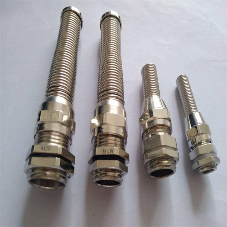 厂家直供淮安防折弯电缆固定头 弹簧电缆格兰头M20*1.5耐扭式电缆接头