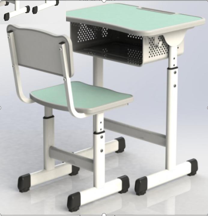 新款 钢木螺丝 升降课桌椅