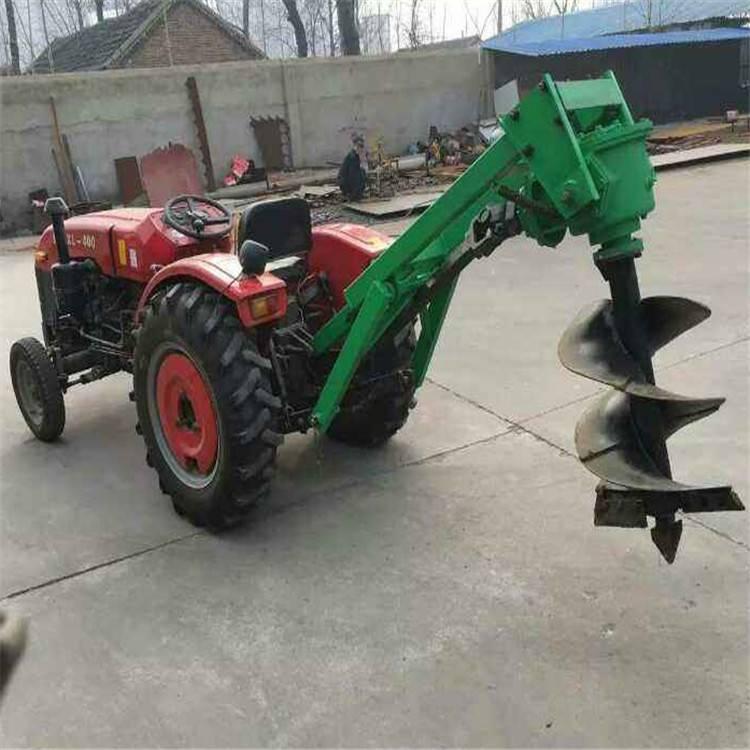 拖拉机带树窝打坑机农用撒粪机果树种植打洞机地钻机刨坑钻眼植树