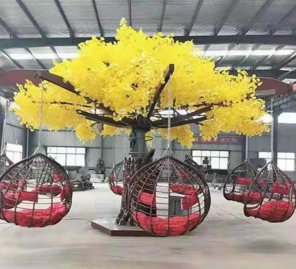 上海幕明旋转樱花树/网红互动道具许愿树
