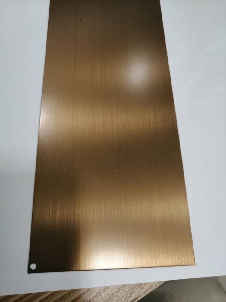 不锈钢拉丝电镀古铜板 不锈钢拉丝板  不锈钢古铜板