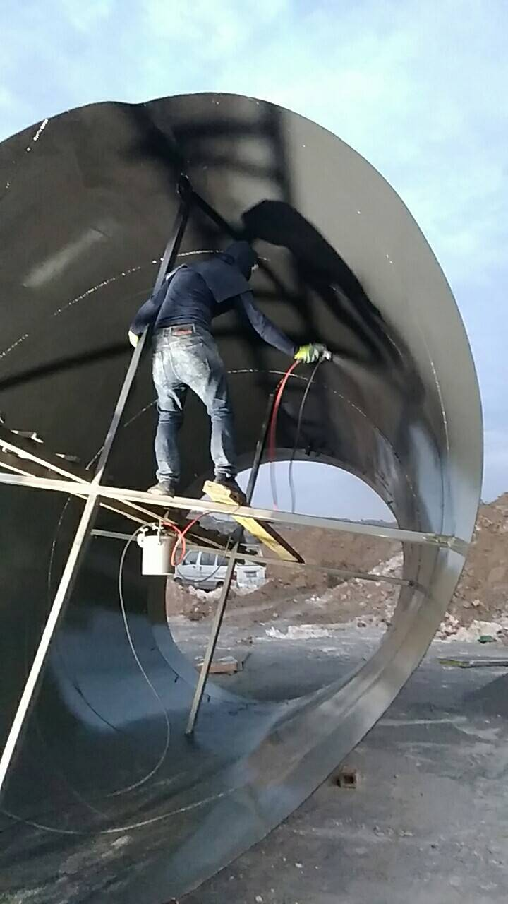 山西某焦化厂脱硫设备重防腐漆喷涂