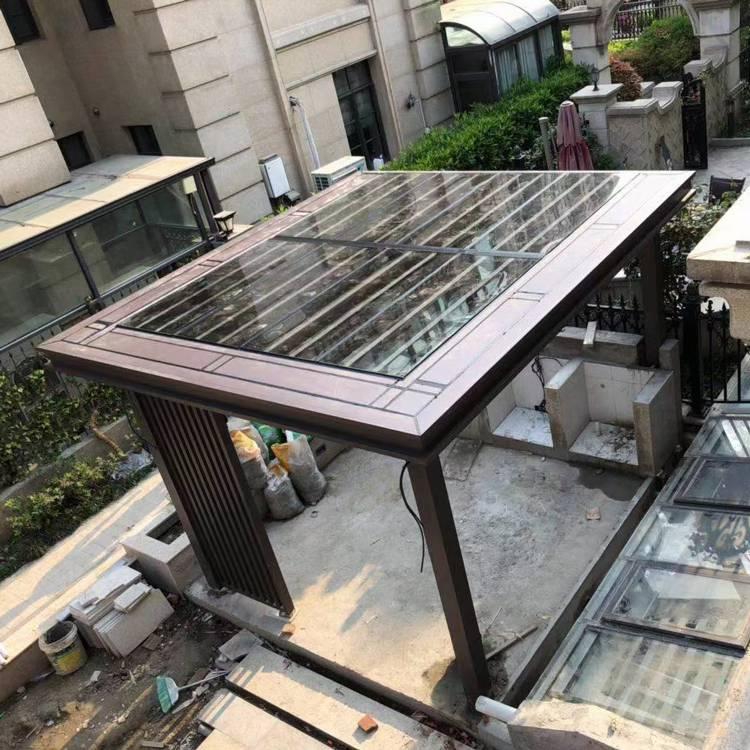 阳合铝艺铝合金新中式凉亭葡萄架