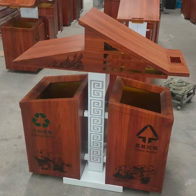工厂金属垃圾桶安装灭烟处