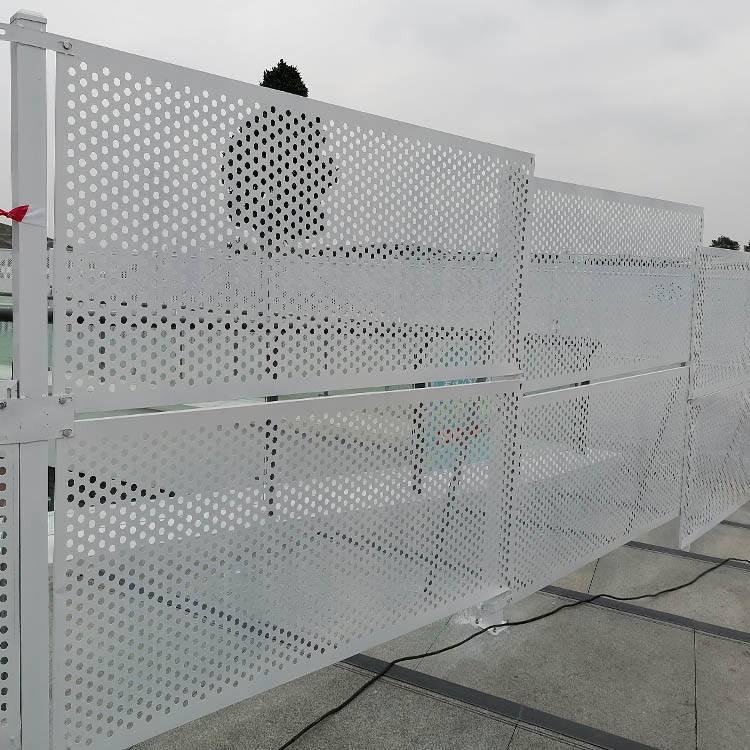 施工围栏设施/防风护栏安装/安全阻隔施工重地
