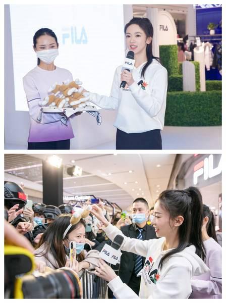 FILA运动代言人吴谨言与粉丝及会员互动