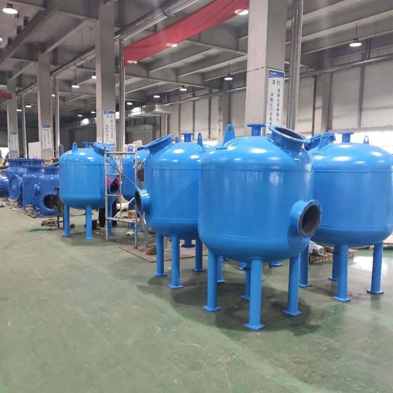 国海滤器浅层砂过滤器生产过程 全自动砂滤罐