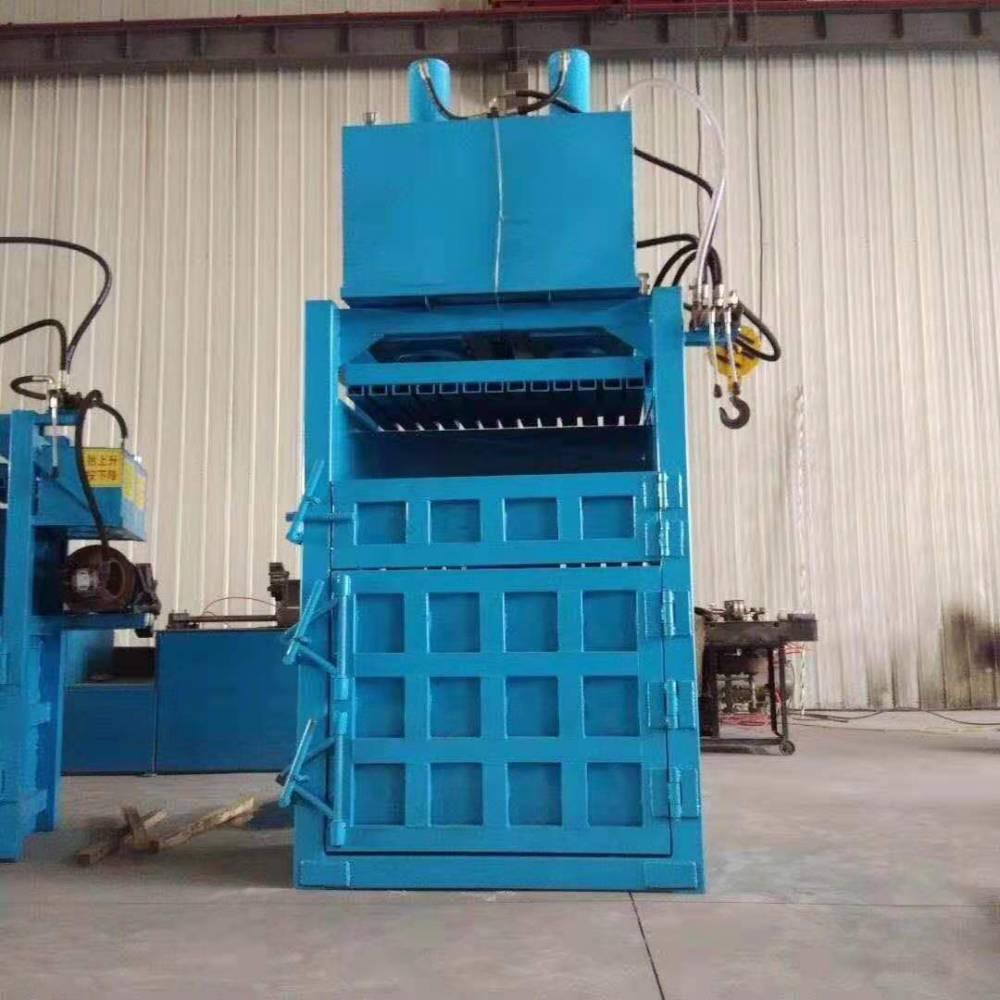 立式60吨废金属易拉罐打包机演示视频