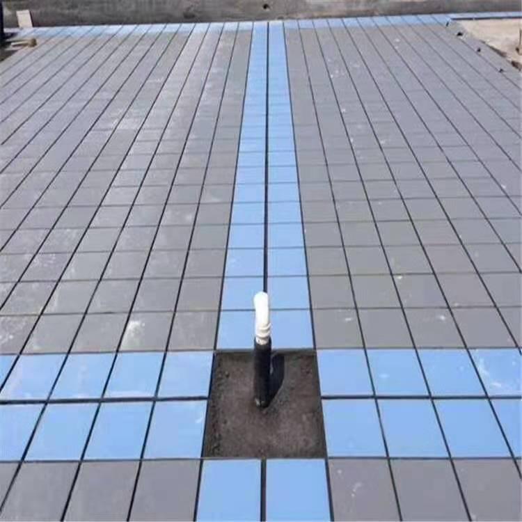 河南天正廣場磚灰色和藍色鋪貼效果