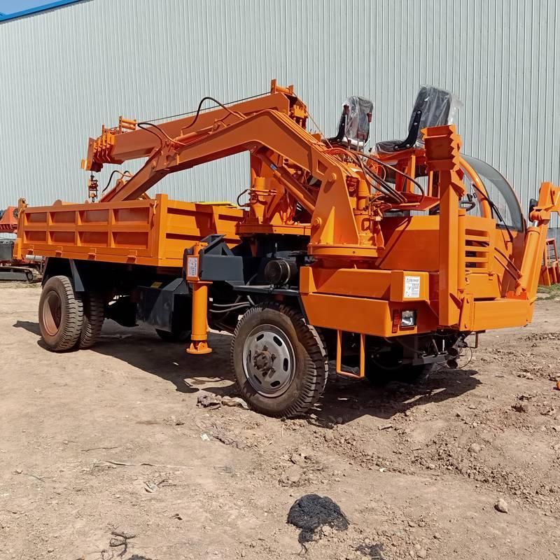多功能吊挖一体机 白事用吊挖一体机 农用挖掘吊装运输车