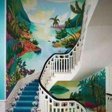 供应宜春靖安铜鼓宜丰奉新上高万载手绘墙画彩绘墙绘涂鸦壁画!