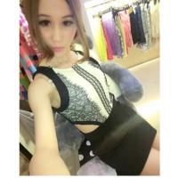 2014新款欧美连衣裙9912高级定制 蕾丝纱网露背连衣裙