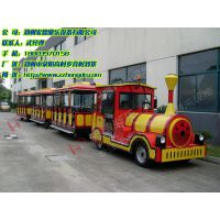 电动无轨小火车 房产公司带客户参观用游乐设备宏德游乐供应观光小火车