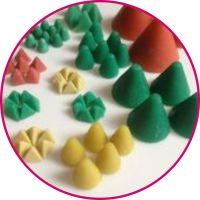彩色圆锥形树脂磨料,10,15,20,25-60mm塑磨,支持订制订做