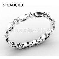 能量磁石保健手环 不锈钢手镯加工不锈钢精钢钛钢宝石饰品生产厂