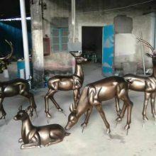 玻璃钢仿真麋鹿树脂小鹿摆件工艺品公园景观不同姿态的鹿群雕塑