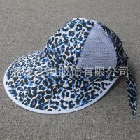供应新款女式夏季遮阳帽/个性绸缎大檐帽/六片大碎花防紫外线网帽/帽子现货批发