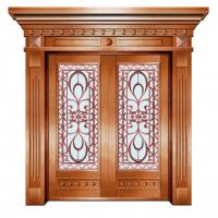 家装防盗铜门,古典优雅别墅门,中南设计