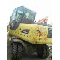 供应西安二手犀牛65-4L轮式挖掘机|全国包邮免运费