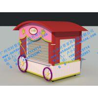 泰州商业街贩卖亭,户外实木售卖亭,移动售货车,木制手推车