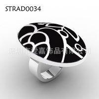 戒指生产定做 不锈钢制品纯银介子不锈钢精钢珐琅戒指生产定制厂