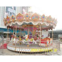 豪华旋转木马游乐设备 大型广场游乐场转马 户外电动儿童转马娱乐设施