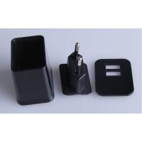 厂家供应双USB旅行充电头外壳,多功能双USB充电器外壳