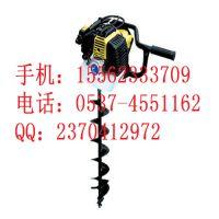 六九重工定制单人操作简单钻头式挖坑机 省电省油两用式挖坑机