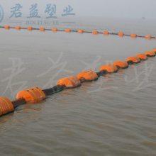 1.1米长浮筒 海洋疏浚管道浮筒 孔径11寸警示浮筒