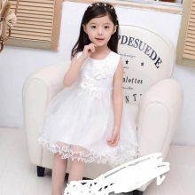 ***儿童婚纱礼服蓬蓬甜美公主连衣裙童裙 夏季新款短袖童裙