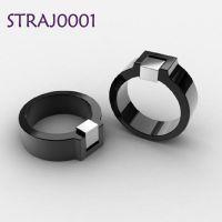 指环加工生产定制 不锈钢珐琅国际品牌戒指设计定做 彩金戒指工厂