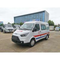 廠家供應江鈴特順短軸中頂4944×1974×2435轉運型120救護車