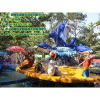 激战鲨鱼岛 公园好玩旋转互动类水上游乐设备郑州宏德游乐供应